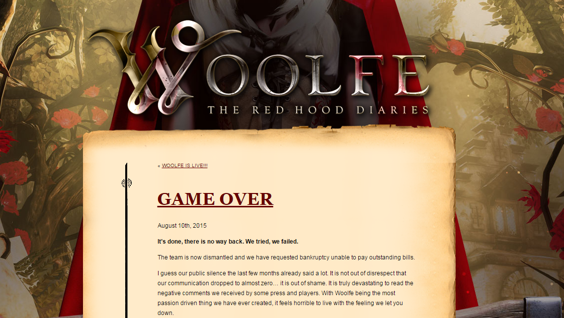 grin woolfe game over