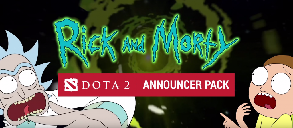 Rick and Morty Dota 2 Announcer Pack