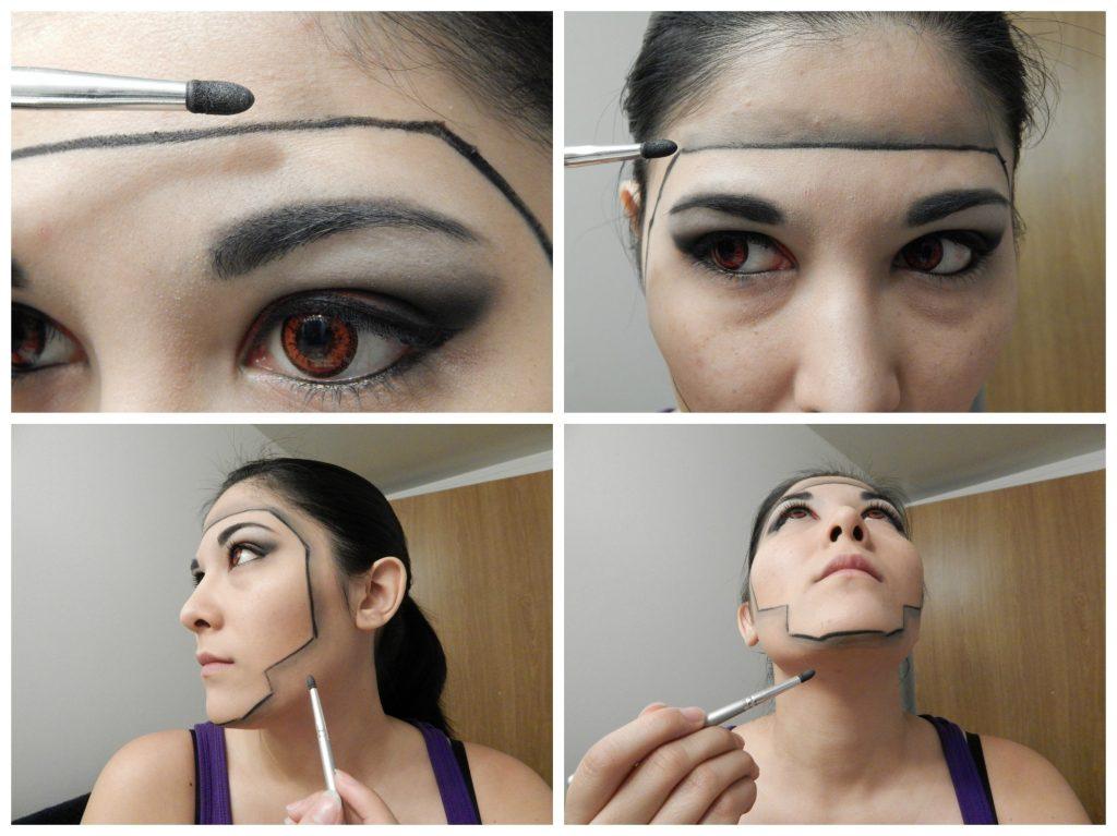 3D Mask face lines
