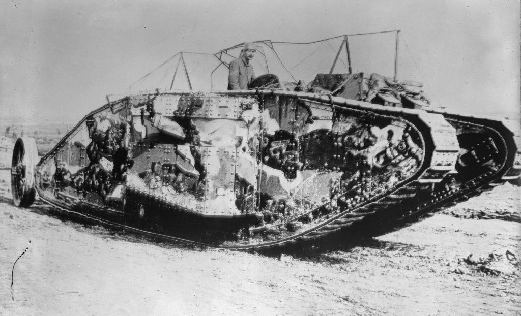 The Mark I series tank. Courtesy Wikipedia.